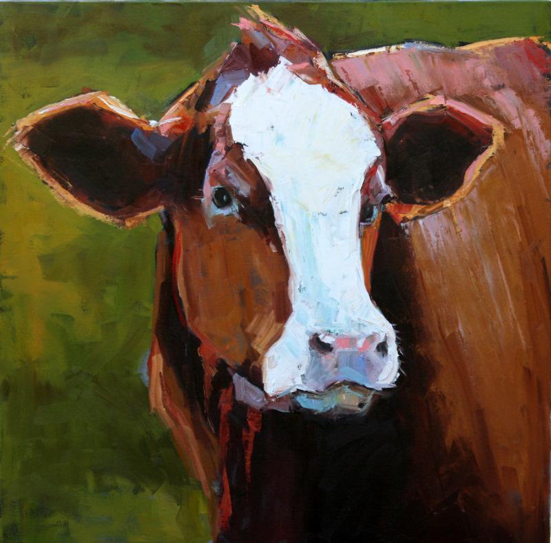 """""""enormous handsome heifer"""" original fine art by Carol Carmichael"""
