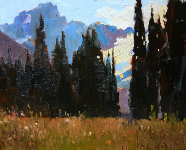 """North Cascades from Grand Park , oil landscape painting by Robin Weiss"" original fine art by Robin Weiss"