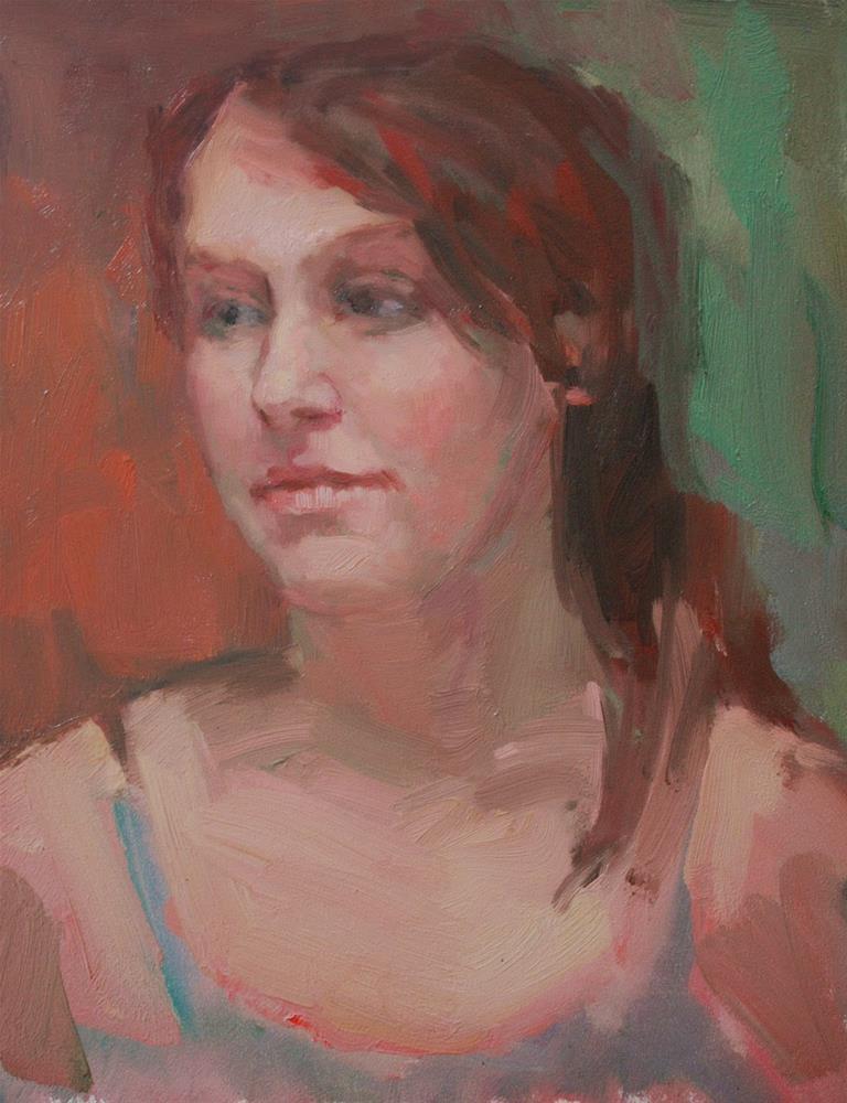 """Girl with Green Eyes"" original fine art by Kathryn Townsend"
