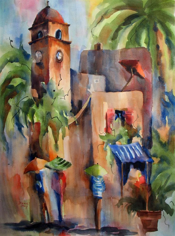 """Rainy Day Capri II"" original fine art by Jinnie May"