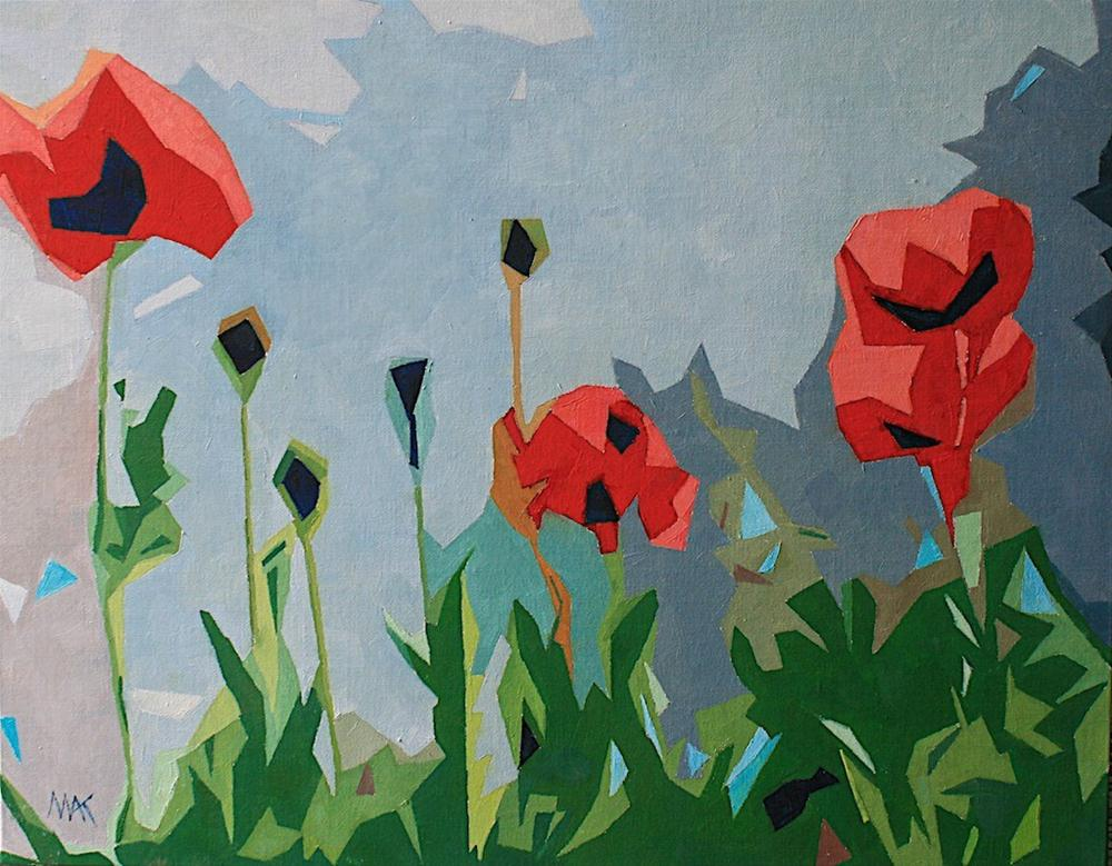 """""""Abstract Poppies"""" original fine art by Mary Anne Cary"""