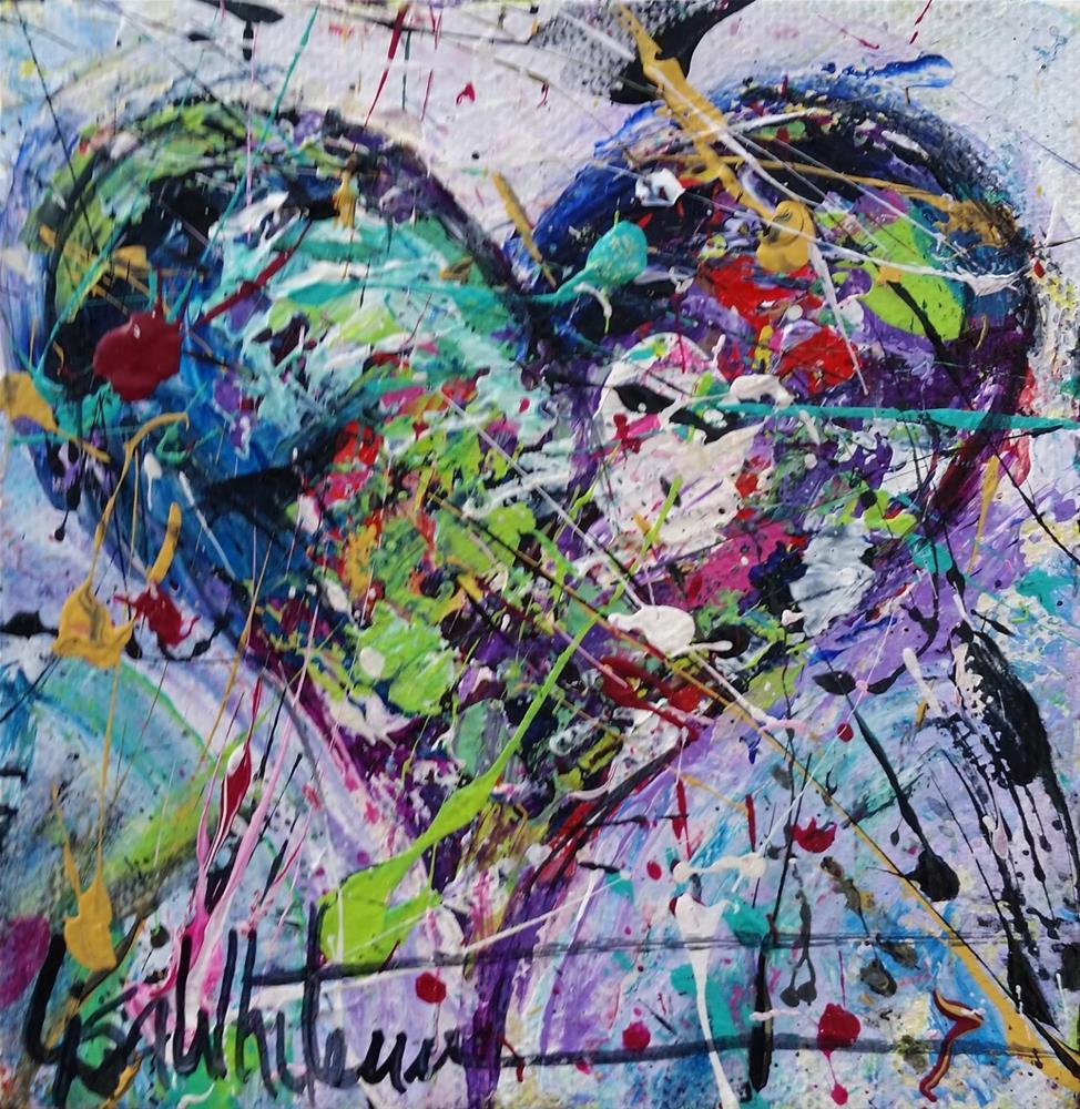 """""""63 - Shape of my Heart"""" original fine art by Lisa Rogers"""