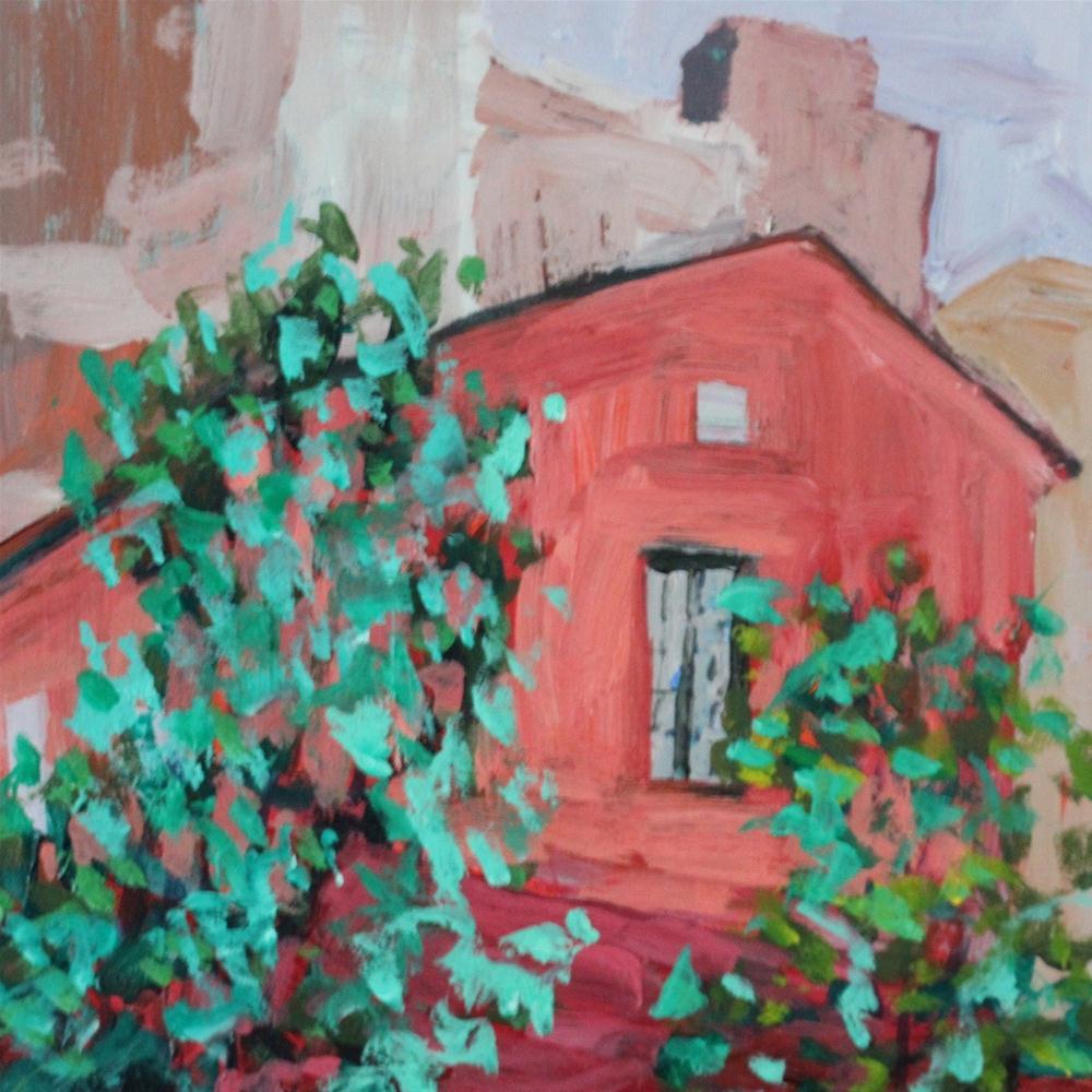 """Far West Village"" original fine art by Christine Parker"