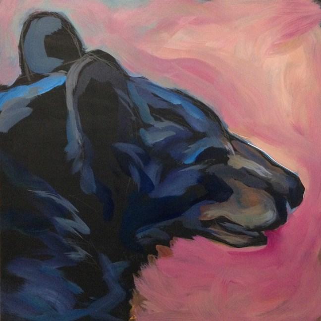 """Bear Time Chuckle"" original fine art by Kat Corrigan"
