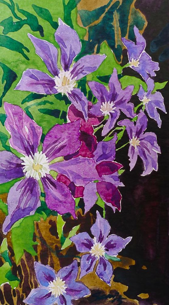"""""""Garden art-deco"""" original fine art by Elena Senina"""