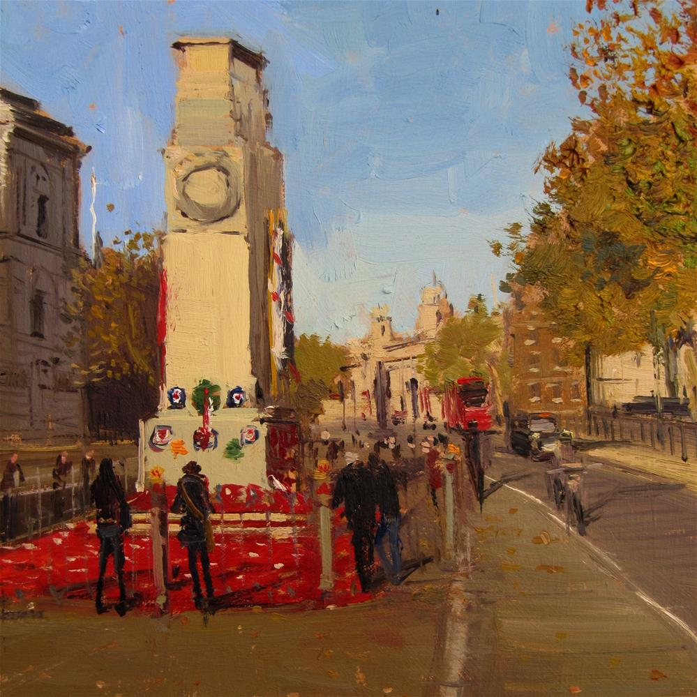 """""""The Cenotaph, in memory of our heroes"""" original fine art by Adebanji Alade"""