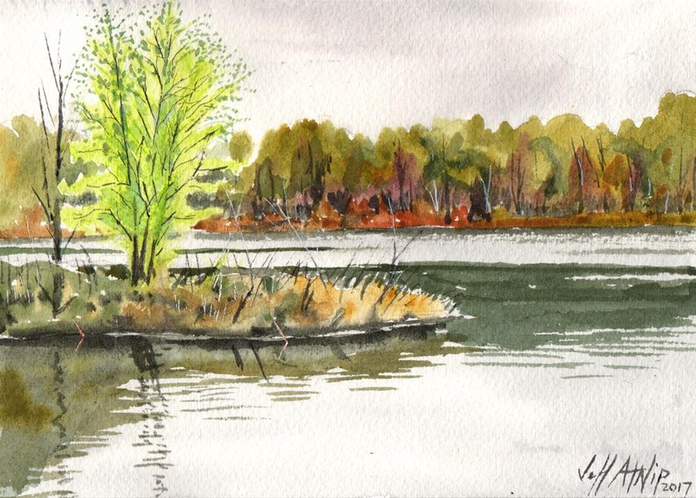 """Across the Pond"" original fine art by Jeff Atnip"