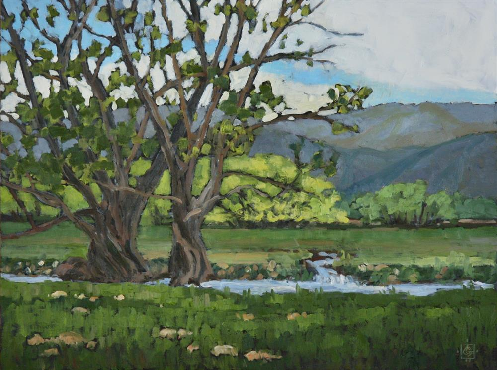 """Spring Pasture"" original fine art by Carol Granger"