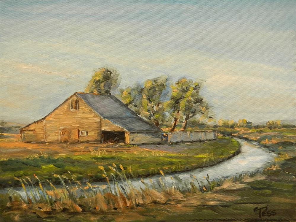"""Sunrise on the Farm"" original fine art by Tess Lehman"