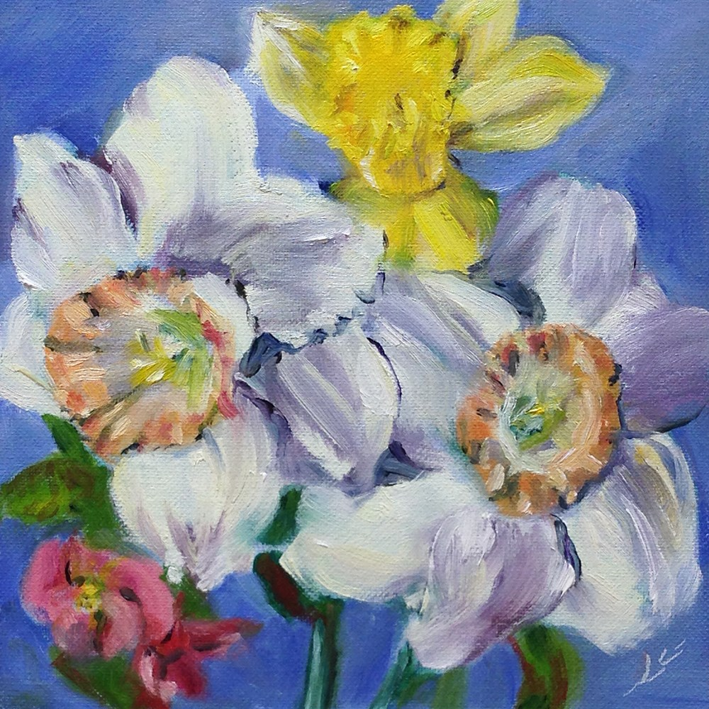 """""""Spring in Two Hours"""" original fine art by Linda Lowery"""
