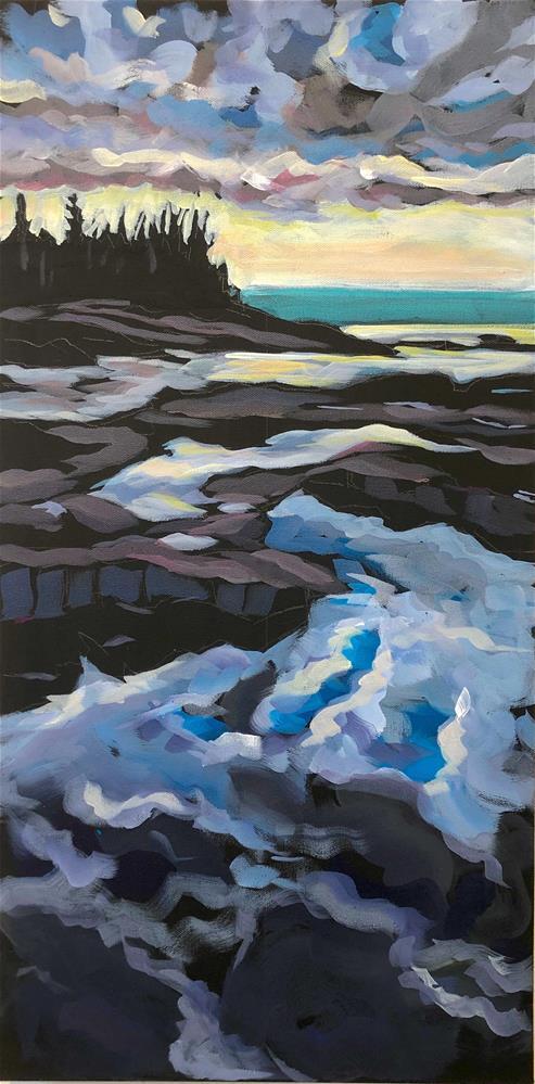"""Sky Blue Water"" original fine art by Kat Corrigan"