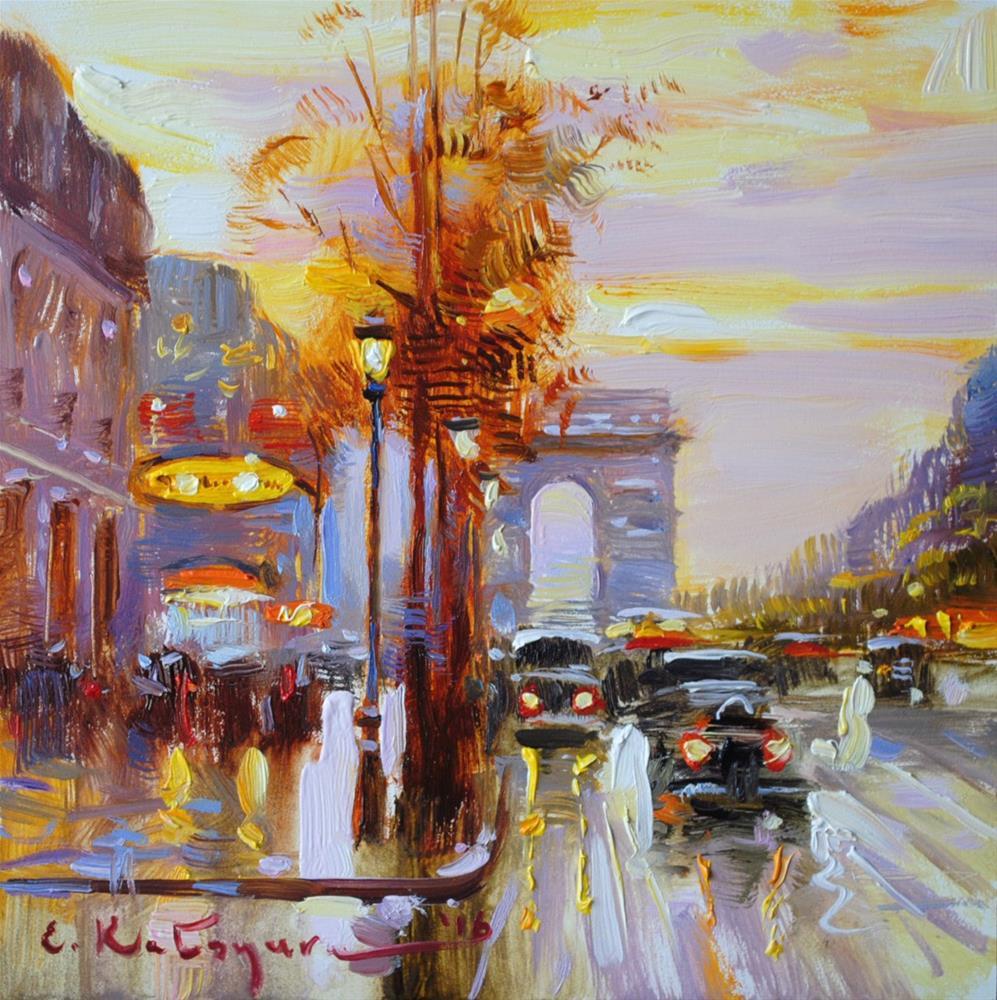 """Autumn Morning"" original fine art by Elena Katsyura"