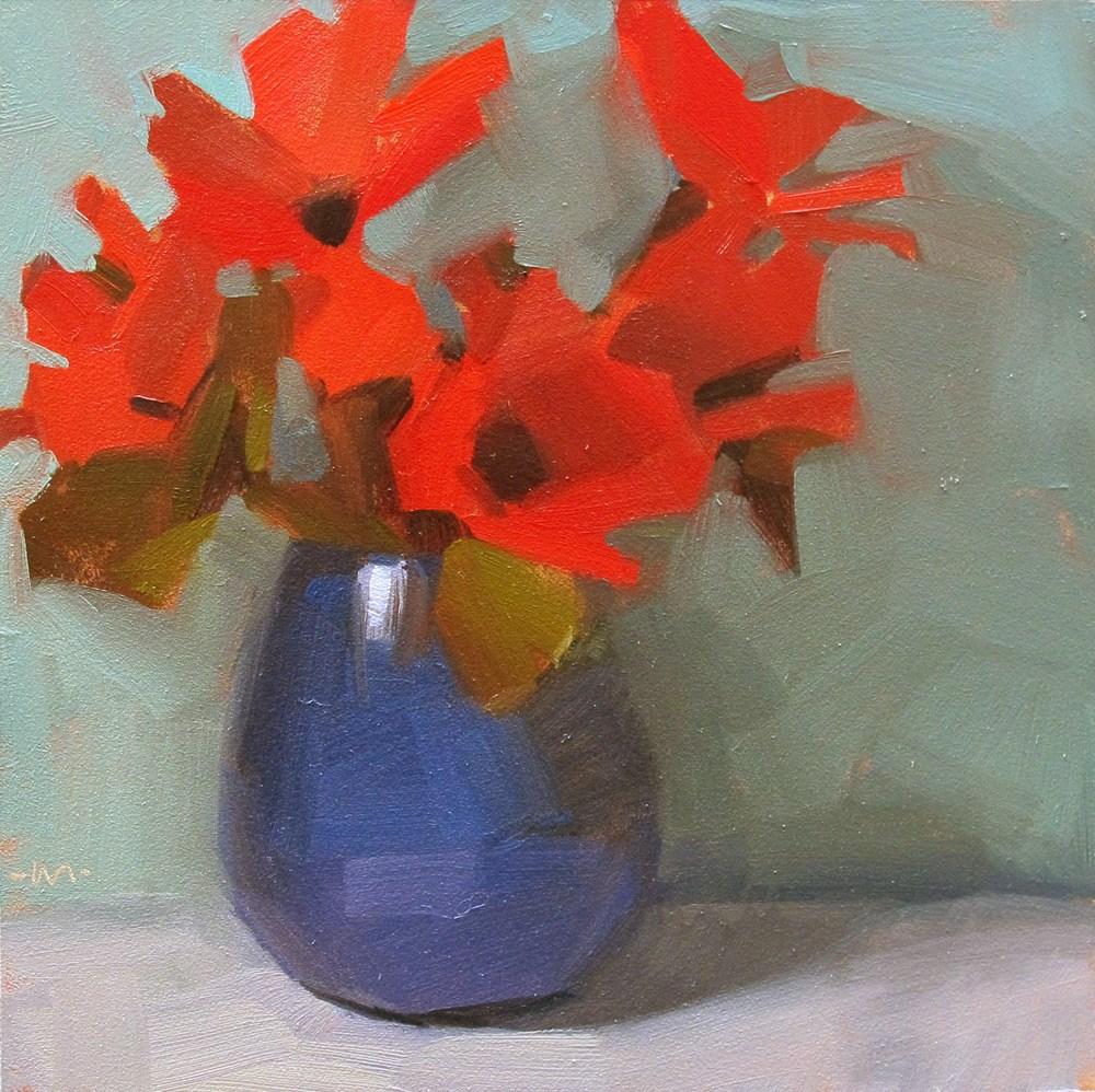 """Red Explosion"" original fine art by Carol Marine"