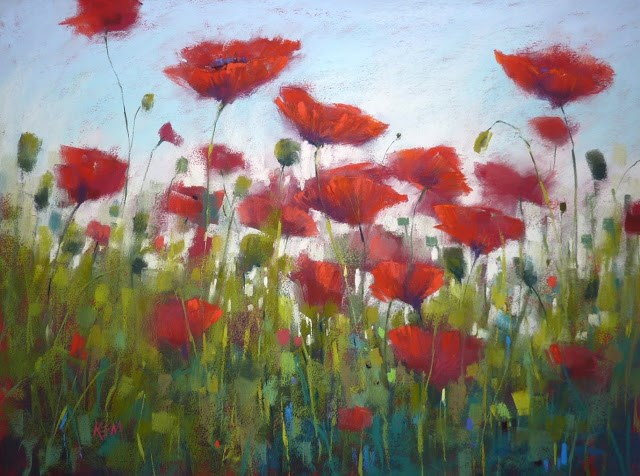 """What Happens When you Find a Big Piece of RED Paper"" original fine art by Karen Margulis"