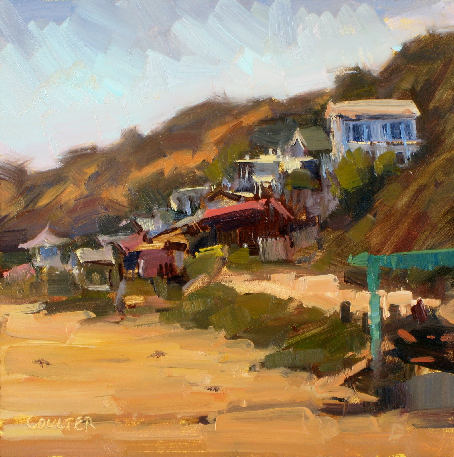 """""""CRYSTAL COVE"""" original fine art by James Coulter"""