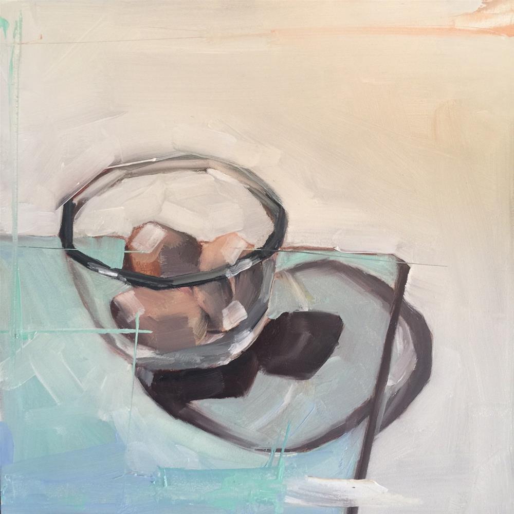 """559 Three Brown Eggs"" original fine art by Jenny Doh"