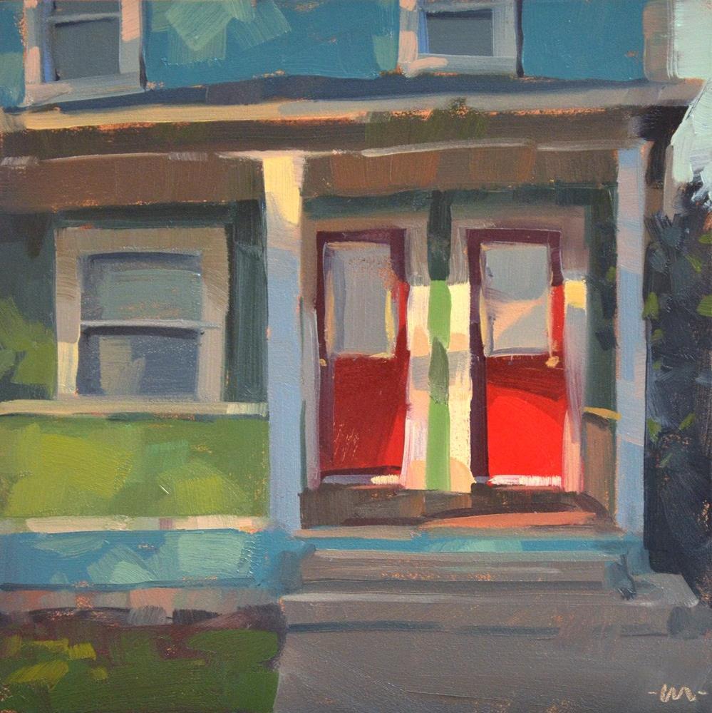 """""""Red Door, Duplex"""" original fine art by Carol Marine"""
