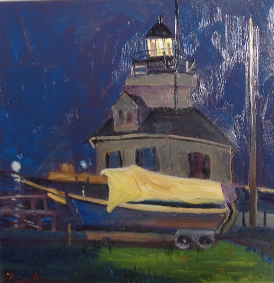 """The Boatyard"" original fine art by Rose Brenner"