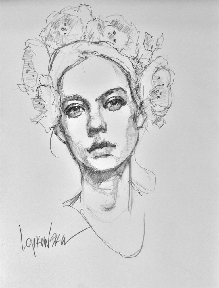 """""""Flower Girl 8"""" original fine art by Laurie Johnson Lepkowska"""
