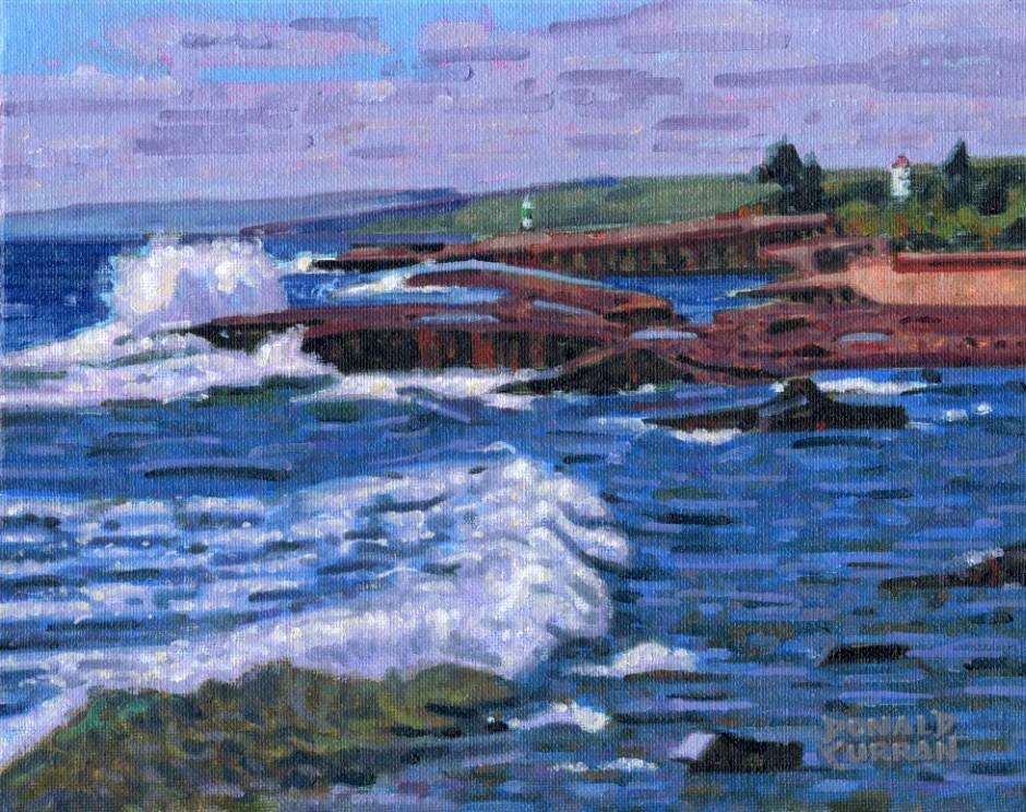 """""""Grand Marais Shoreline"""" original fine art by Donald Curran"""