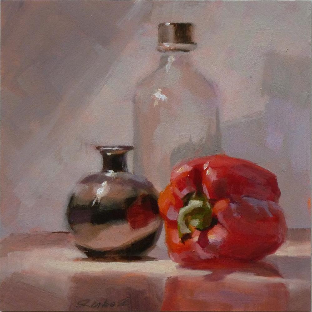 """""""Black Vace & Sweet Pepper"""" original fine art by Ron Ferkol"""