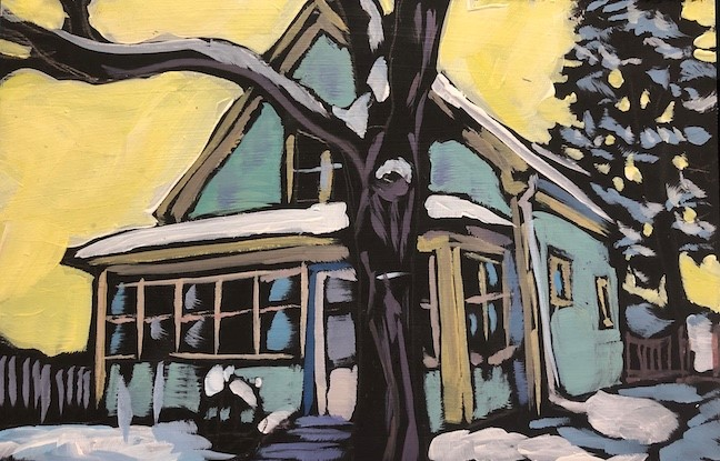 """""""Winter Tree"""" original fine art by Kat Corrigan"""