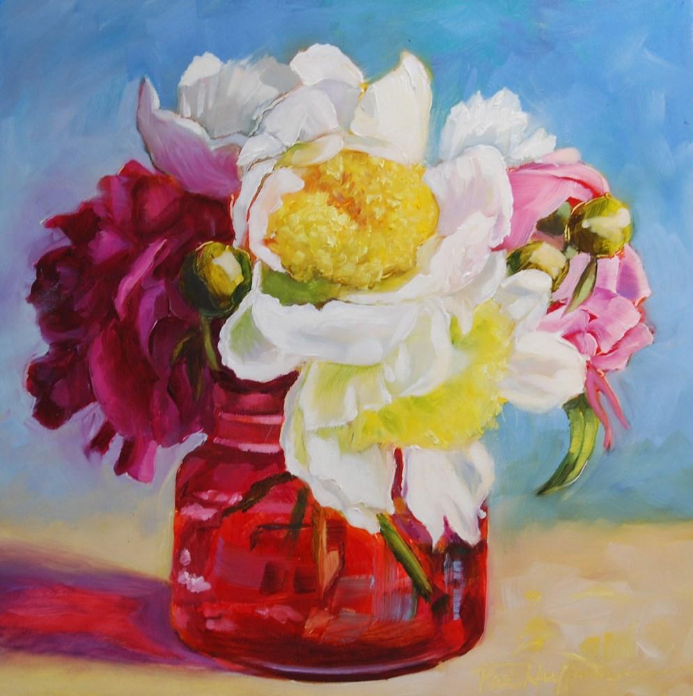 """Spring Peonies"" original fine art by Patricia Huffman"
