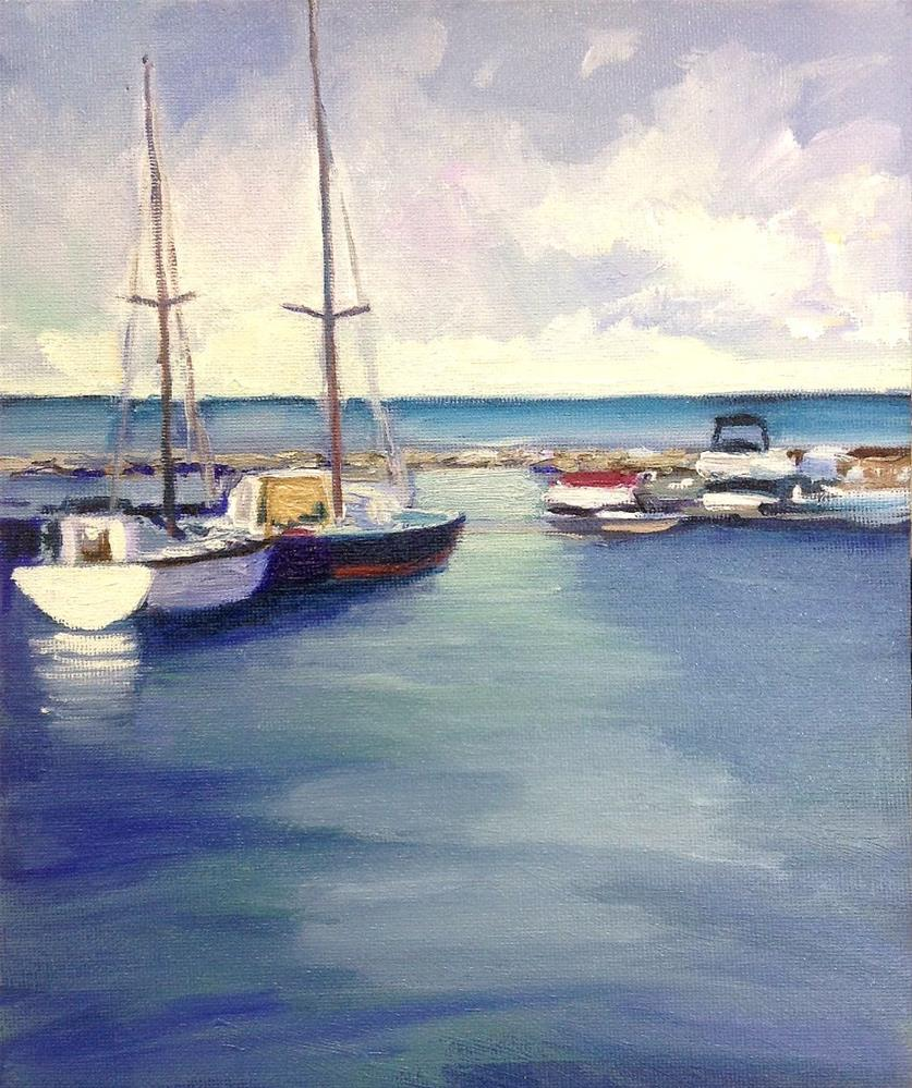 """Harbour View"" original fine art by Cathy Boyd"
