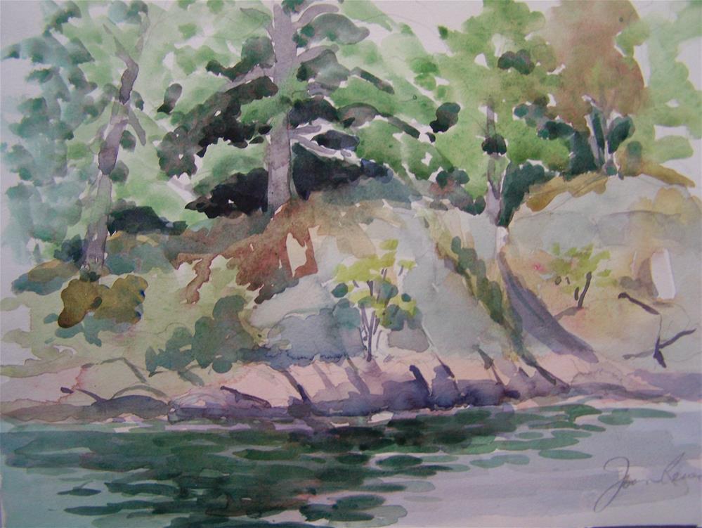 """Island Shoreline"" original fine art by Joan Reive"