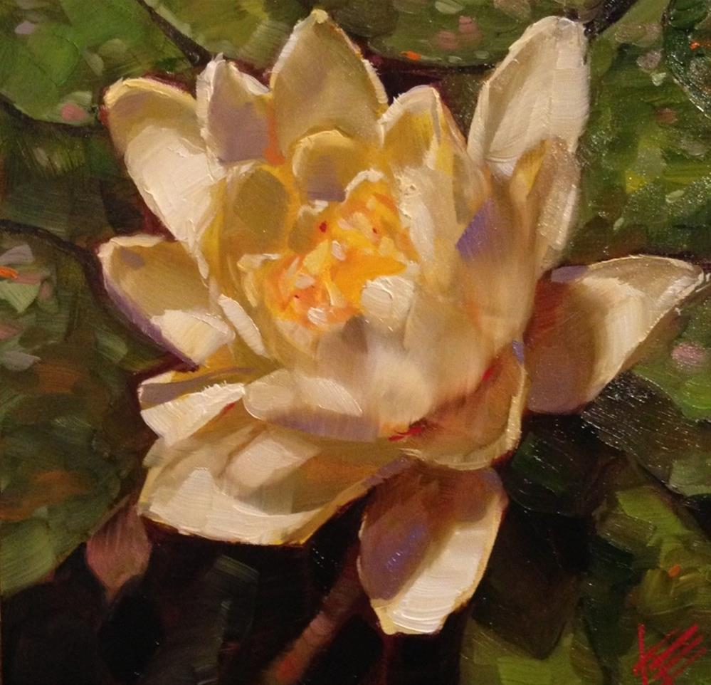 """Water Lily"" original fine art by Krista Eaton"