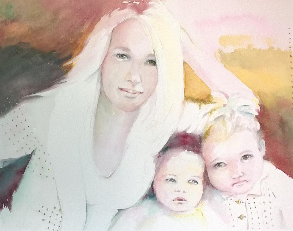 """Mother's Joy"" original fine art by Crisynda Buss"