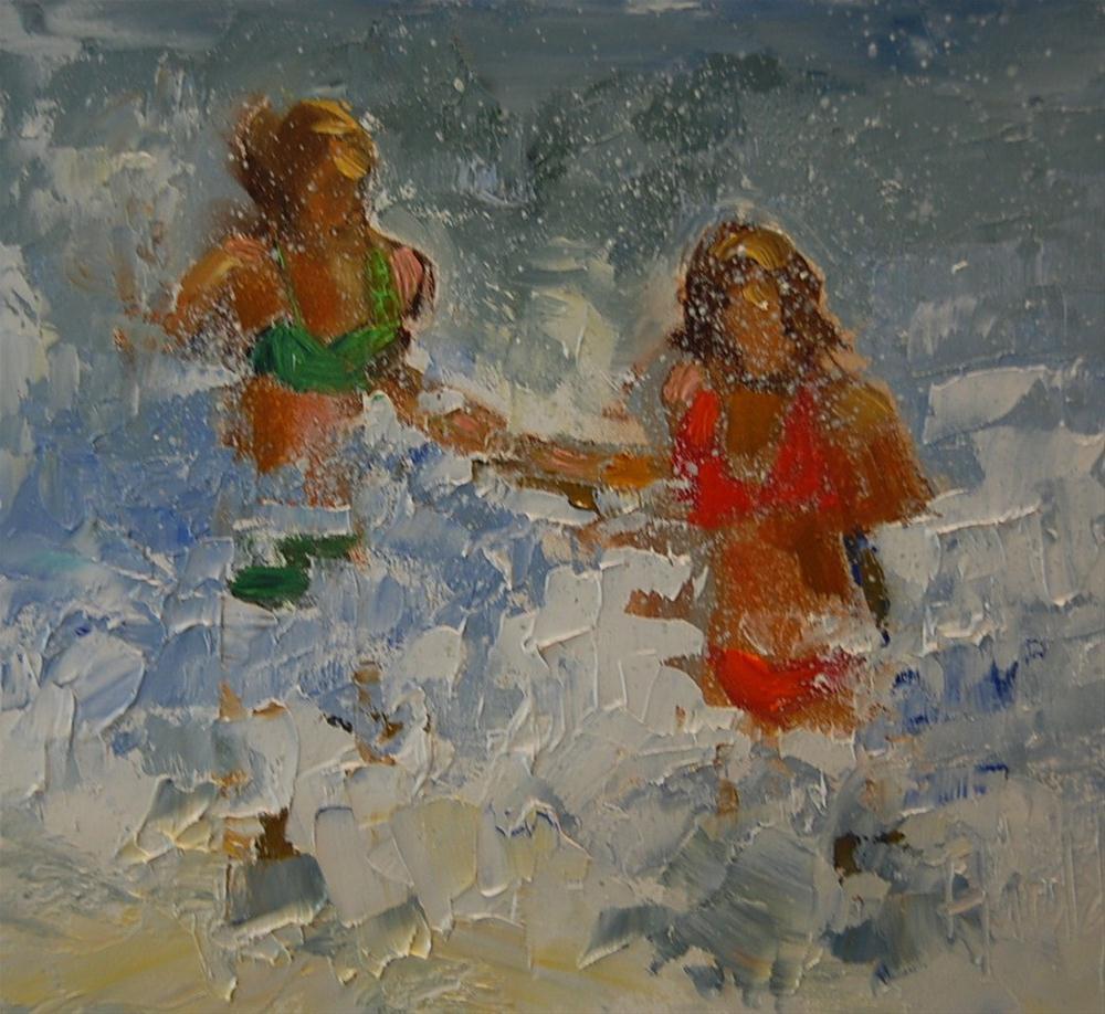 """""""Water Women"""" original fine art by Deborah Harold"""