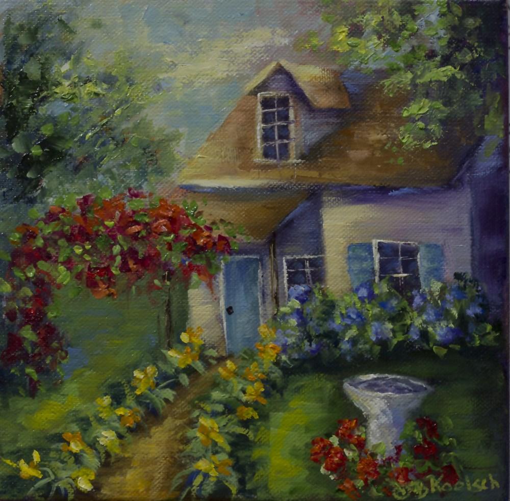 """""""Cottage Abode"""" original fine art by Bobbie Koelsch"""