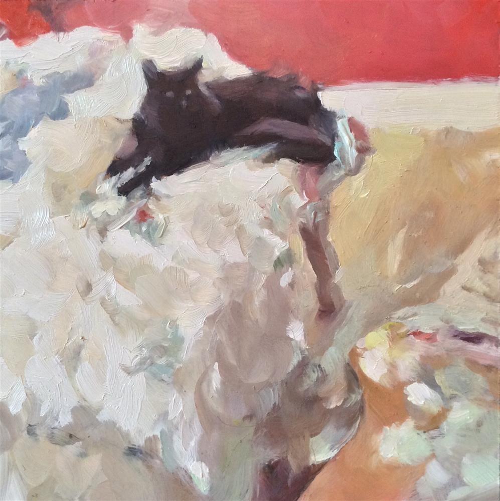 """The Art Critic"" original fine art by Paula Howson-Green"
