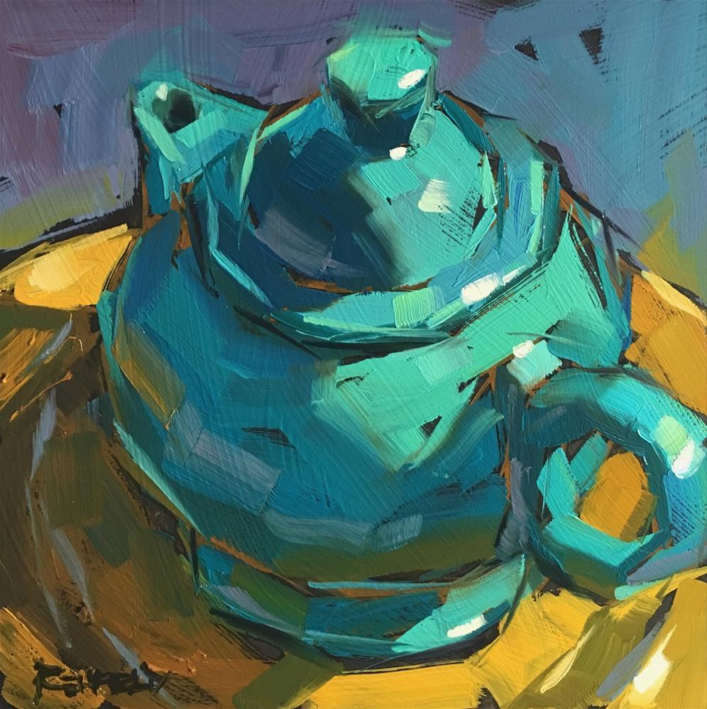 """Turquoise Tempest"" original fine art by Cathleen Rehfeld"