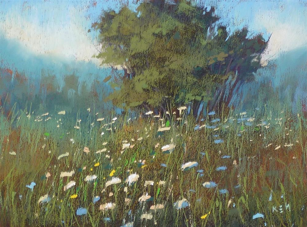 """""""Join Me for a Month of Wildflowers!"""" original fine art by Karen Margulis"""