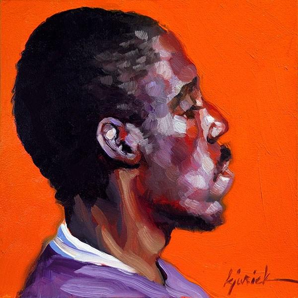 """200 Faces, No. 145"" original fine art by Karin Jurick"