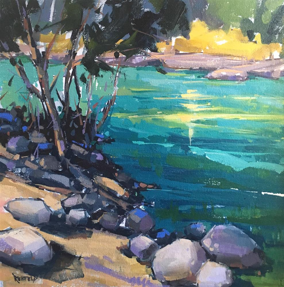 """Summer Color - The Hood River 12x12"" original fine art by Cathleen Rehfeld"
