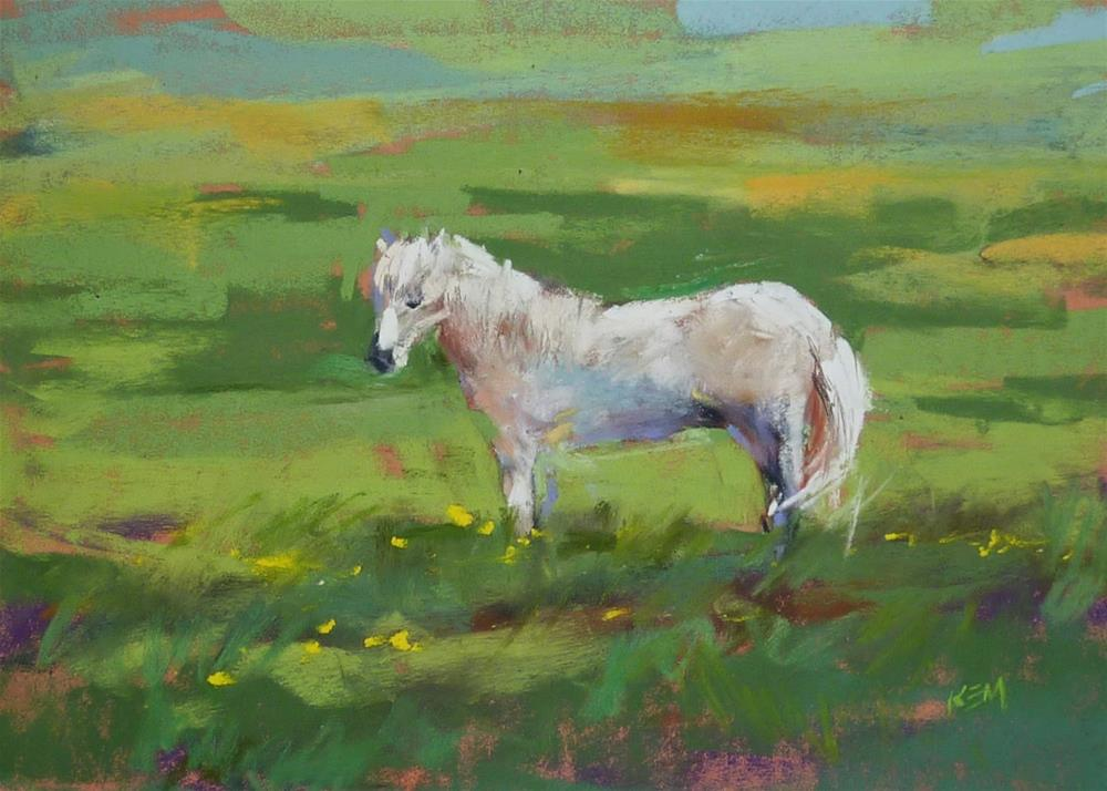 """Iceland: Through the Eye's of an Artist part 13 The Icelandic Horse"" original fine art by Karen Margulis"