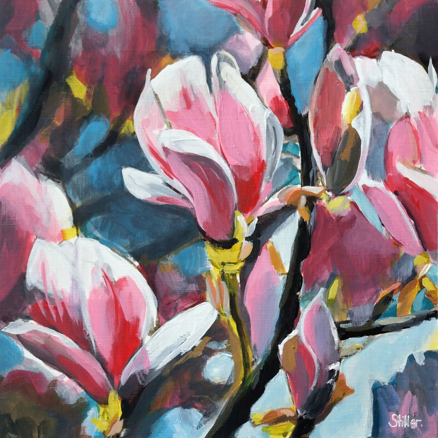 """2767 Magnolia Bloom"" original fine art by Dietmar Stiller"
