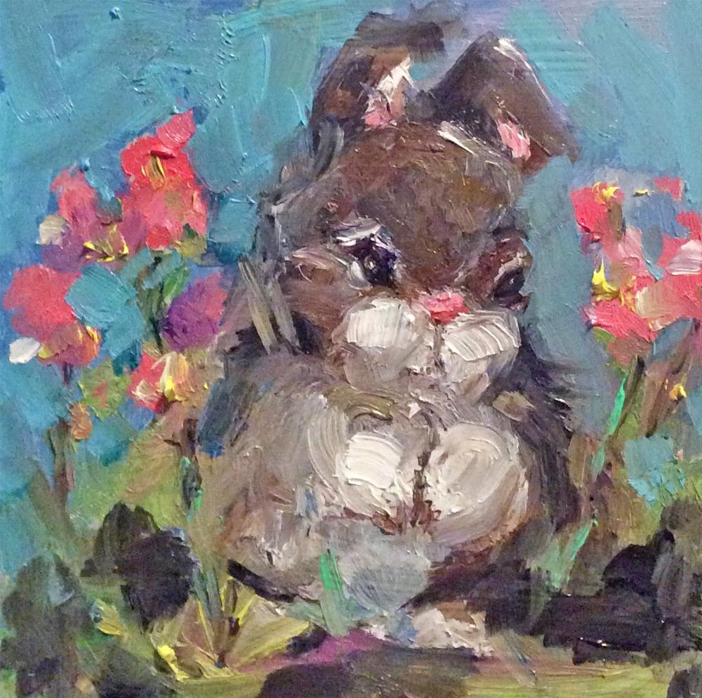 """Honey Bunny"" original fine art by Marcia Hodges"