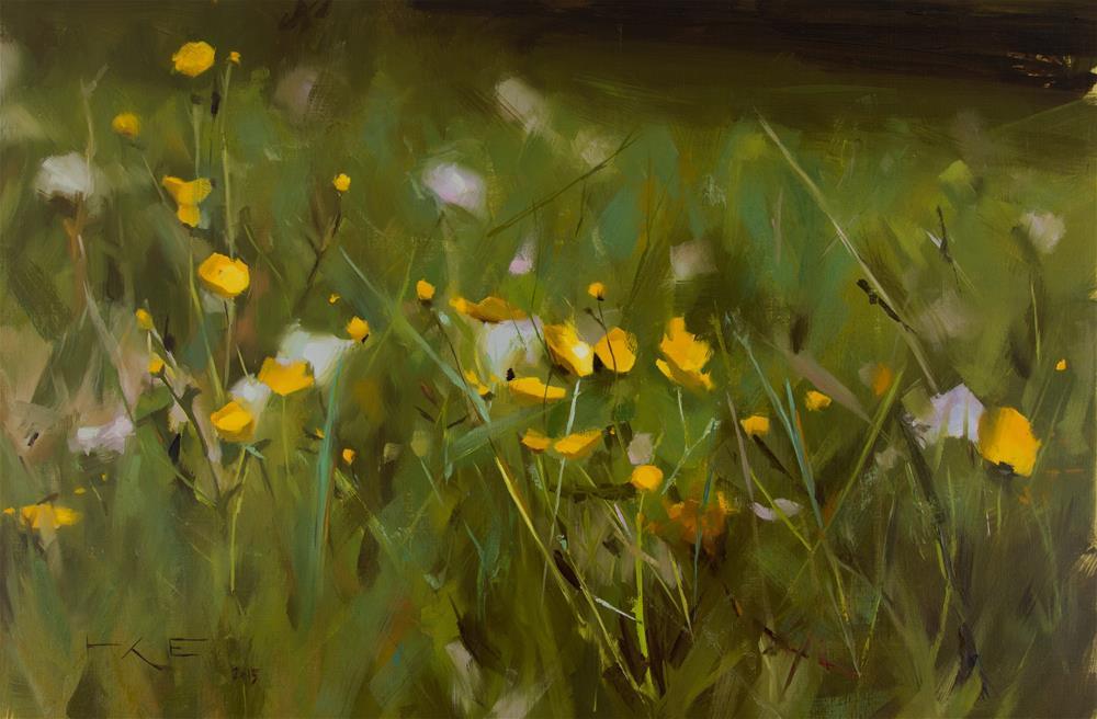 """Buttercups"" original fine art by Thorgrimur Andri Einarsson"
