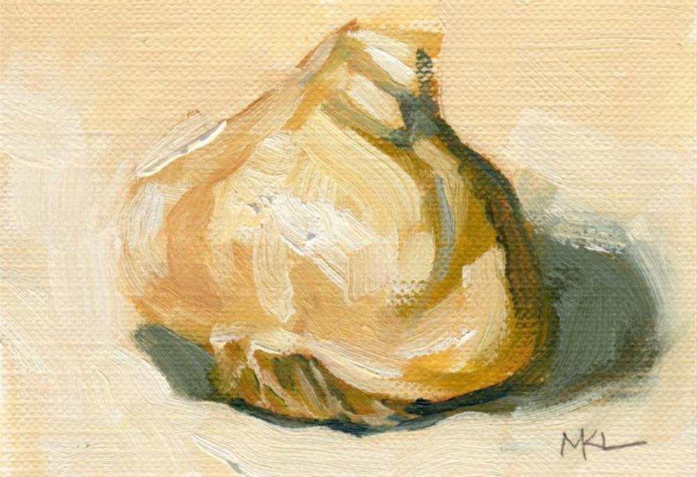 """""""Garlic"""" original fine art by Marlene Lee"""