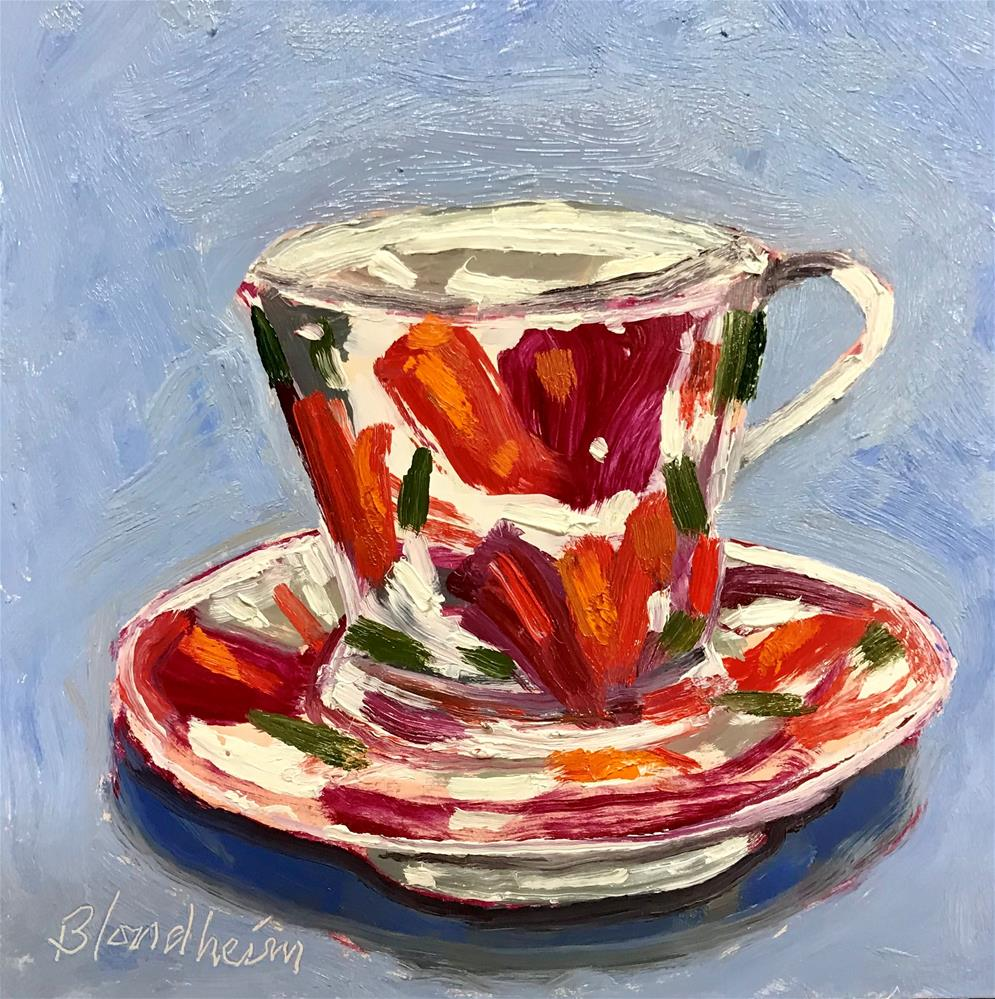 """Tea Cup"" original fine art by Linda Blondheim"