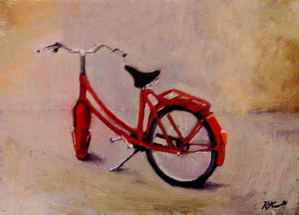 """A Red Bike"" original fine art by Bob Kimball"
