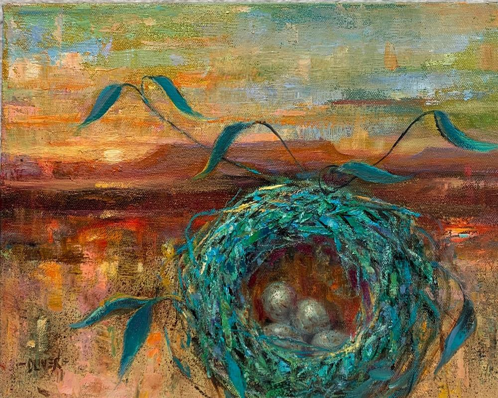 """Turquoise Nest, New Mexico."" original fine art by Julie Ford Oliver"
