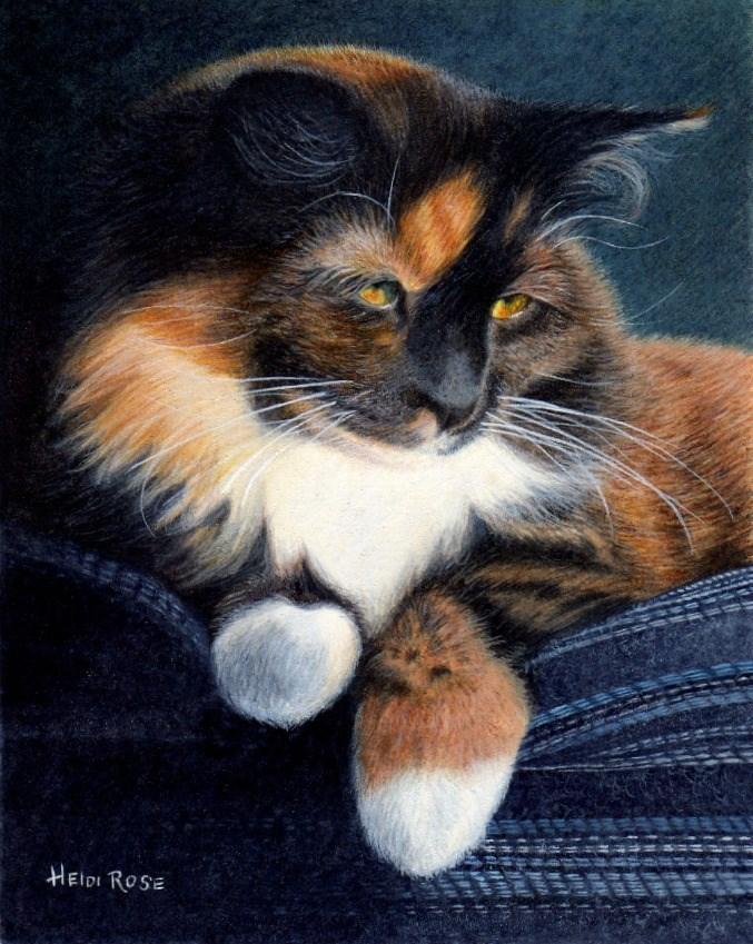 """One Fine Feline"" original fine art by Heidi Rose"