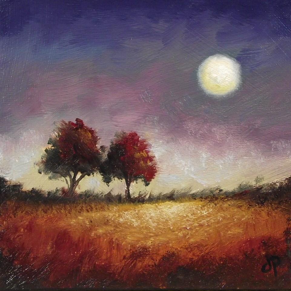 """Red Trees"" original fine art by Jane Palmer"