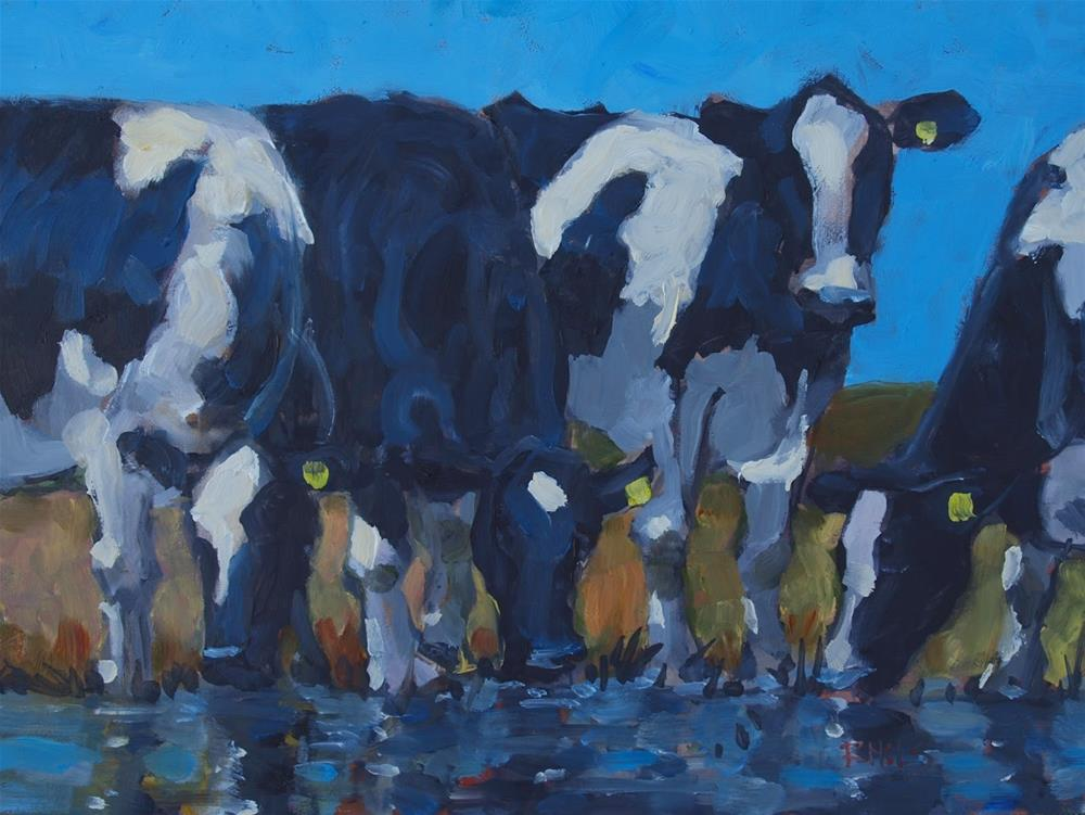"""Yearlings"" original fine art by Rick Nilson"