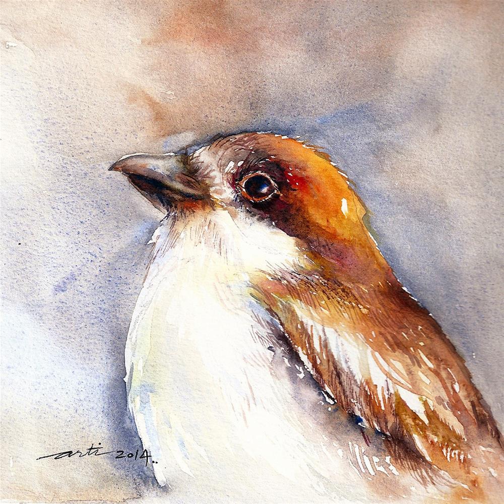 """Attitude_Bird Portrait"" original fine art by Arti Chauhan"